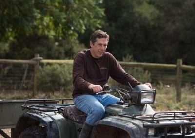 Man riding a quad