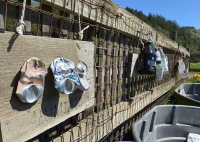 Detail of aluminum recycle area outside